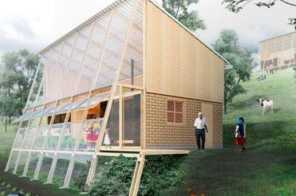Prototipo di edilizia rurale sostenibile e produttiva in Colombia, di FP Arquitectura